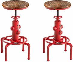 Ehomexpert Industrial Adjustable Height <b>Bar Stools</b> Set of <b>2</b> 18.11 ...