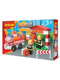 Детский развивающий <b>конструктор Bauer</b> Пожарная часть ...