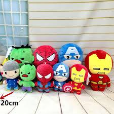 one pcs marvel avengers 2 plush toys iron man captain america hulk thor spiderman batman superman film soft doll gifts batman superman iron man 2