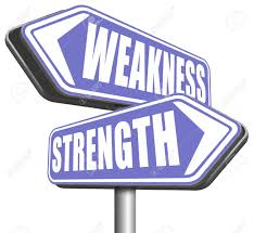 strength or weakness strong or weak points overcome problems stock photo strength or weakness strong or weak points overcome problems accept the challenge to success