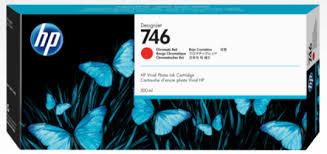 <b>HP 746</b> 300-ml <b>Chromatic</b> Red Ink Cartridge for <b>DesignJet</b> Z6/Z9+ ...