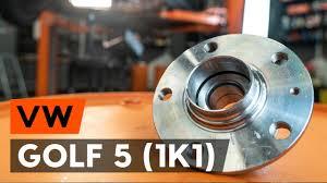 Как заменить подшипник <b>ступицы заднего колеса</b> на VW GOLF 5 ...