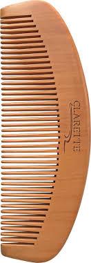 Clarette <b>Расческа</b>- гребень для волос <b>деревянная</b>, цвет: бежевый ...