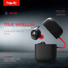HAVIT <b>TWS</b> Bluetooth <b>Earphone</b> True <b>Wireless</b> Sport <b>Earphone</b> ...