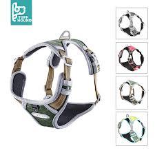 <b>TUFF HOUND Dog</b> Harness Adjustable No Pull <b>Reflective Nylon</b> ...