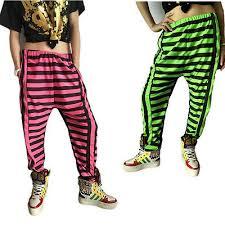 Harem <b>Hip Hop</b> Dance Pants casual Sweatpants <b>Costumes neon</b> ...