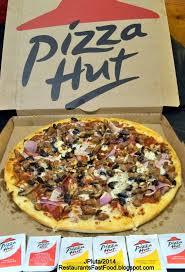 restaurant fast food menu mcdonald s dq bk hamburger pizza mexican pizza hut meat lovers pizza large 13 inch 2lb 11oz pie added onion mushrooms black olives pizza hut restaurant pan pizza