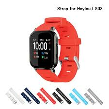 Big Offer #6bd9 - Silicone Soft Strap For <b>Haylou</b> LS02 Smart Watch ...