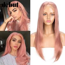 <b>Debut</b> Honey Pink <b>Human</b> Hair Wigs Pre Plucked U Part <b>Lace Front</b> ...