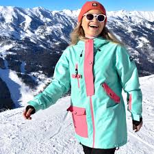 Mint Green Ski Jacket (Womens) - OOSC Clothing