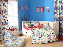 excelent kids bedroom with purple blue kids furniture wall