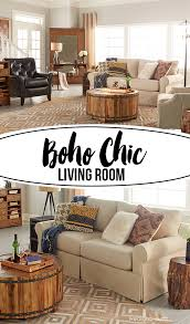 boho chic living room designed by blogger kelly rowe of live laugh rowe for chic living room