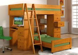 natural honey finish solid pine contemporary loft bed with desk bunk bed desk trundle