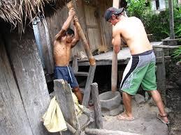 photo essay  batad rice terraces in the philippinespounding rice in batad