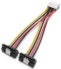 Vention <b>MOLEX 4pin</b> M/<b>SATA</b> 15pin F, Black <b>кабель</b>-переходник ...