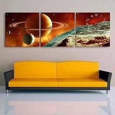 """DiDi <b>E</b>-<b>HOME</b>? Interstellar Clock in <b>Canvas</b> 3pcs 16""""x16"""": Amazon ..."""