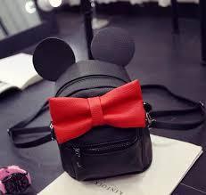 <b>Disney Minnie Mickey</b> Mouse Ears Bow Mini <b>Backpack Bag</b>
