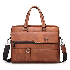 JEEPBULUO Men Briefcase Bag <b>High Quality</b> Famous Brand ...