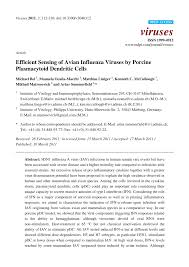 (PDF) Efficient Sensing of Avian Influenza Viruses by Porcine ...