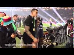 <b>Kid</b> rushes field. Tackled by security guard. <b>Sonny Bill Williams</b> gives ...