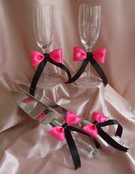 <b>Hot Pink and Black</b> Wedding <b>12pc</b> Ensemble   If I could renew my ...