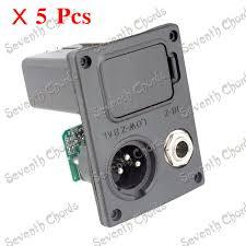 popular 9v battery output buy cheap 9v battery output lots from 5pcs 9v battery boxs holder case xlr connector plug 4 pin socket