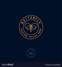 <b>Butterfly</b> logo <b>beautiful decorative</b> Royalty Free Vector