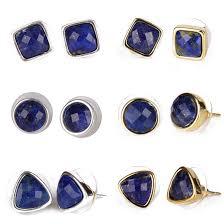 Faceted Square Triangle Round <b>Natural Dark Blue</b> Lapis Lazuli ...