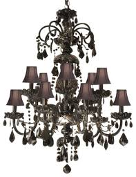authentic all crystal chandelier jet black crystal with black shades traditional chandeliers authentic black crystal