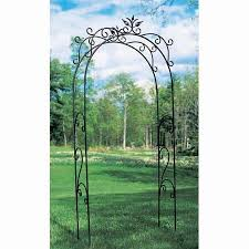 achla designs tuileries 95 ft iron arch arbor achla designs wrought iron