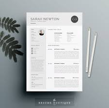 modern resume template cv template cover letter professional resume template and cover letter template for word diy printable 4 page the moonlight professional and creative design