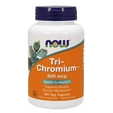Buy Now Foods, <b>Tri</b>-<b>Chromium</b>, <b>500 mcg</b>, <b>180</b> Veggie Caps Online ...