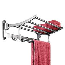Plantex Pitru <b>Stainless Steel Folding</b> Towel Rack for Bathroom ...
