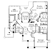 Wynehaven Luxury Florida Home Plan D    House Plans and MoreLuxury House Plan First Floor   D    House Plans and More