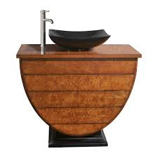 curved vanity bamboo