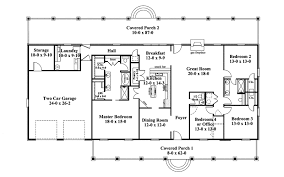 Linwood One Story Home Plan D    House Plans and MoreRanch House Plan First Floor   D    House Plans and More