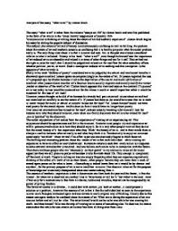 analysis of the essay quotwhat is art quot by clutton brock   a level  page  zoom in