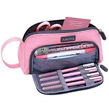 Aiscool Big Capacity <b>Pencil Case</b> Bag Pen Pouch Holder Stationery ...