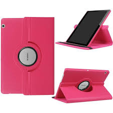 360 Degree Rotating <b>PU Leather Tablet Cover Case</b> For Huawei ...