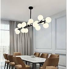 Modern Chandelier <b>16</b> Round Glasses <b>LED</b> Ceiling <b>Light</b> Pendant ...