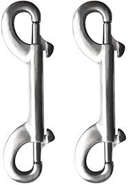 Yundxi <b>2pcs</b> Stainless Steel Diving <b>Double</b> End Bolt Snap Buckle ...