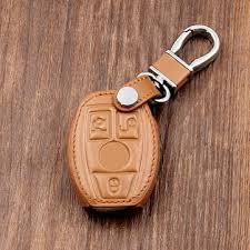 <b>leather</b> car <b>key</b> case/bag cover holder for mercedes <b>remote smart</b> ...