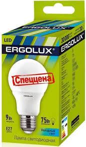<b>LED</b> Group - <b>Светодиодная лампа</b>, <b>ERGOLUX</b>, 9W, E27, 4000K ...