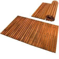 wood bathroom mat bath mat wooden acacia bathroom mat set rectangular anti slip shower s