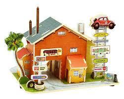 <b>Деревянный 3D</b> домик <b>конструктор</b> «Отель. Америка» <b>Robotime</b>