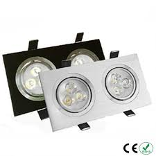 <b>Free shipping</b> 1PCS 6W <b>High</b> power Square double led dimmable ...