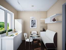 space dining table solutions amazing home design: banquette is a great solution for a narrower space as
