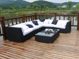black outdoor rattan furniture black garden furniture