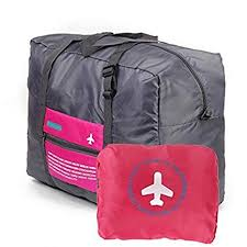 Buy P YU <b>Portable Large Capacity</b> Folding Travel Bag Happy Flight ...
