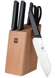 Купить Набор <b>кухонных</b> ножей c подставкой <b>Xiaomi Huo</b> Hou ...